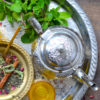 moroccan teapot and tray